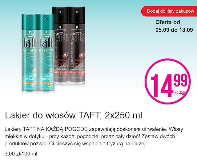 Lakier do włosów TAFT - Biedronka, promocja