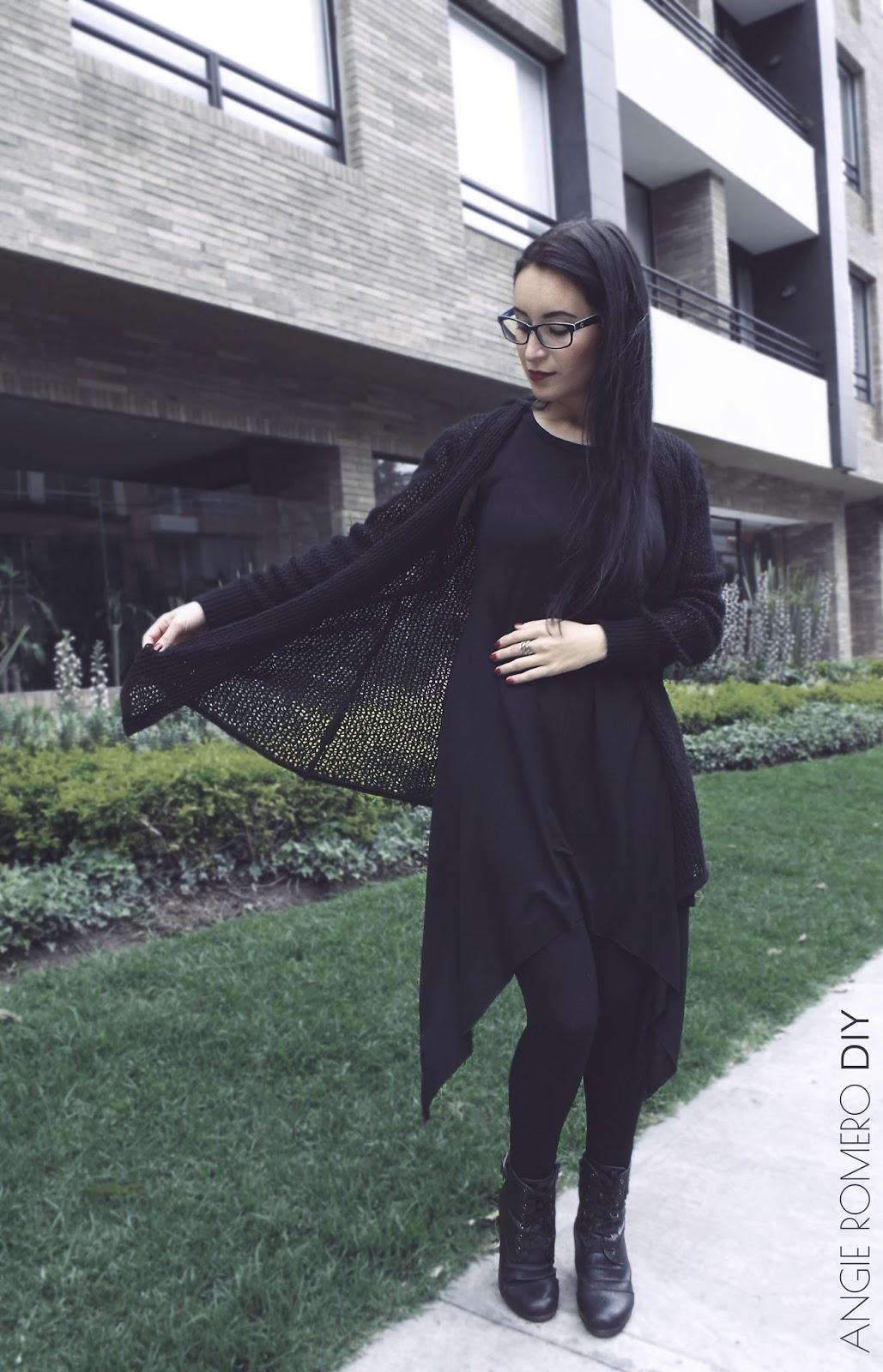 Cómo vestir capas estilo oscuro, outfit inspirado en strega.