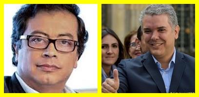 Iván Duque y Gustavo Petro se enfrentarán en las presidenciales colombianas