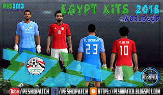 Egypt World Cup 2018 kits for PES 2013