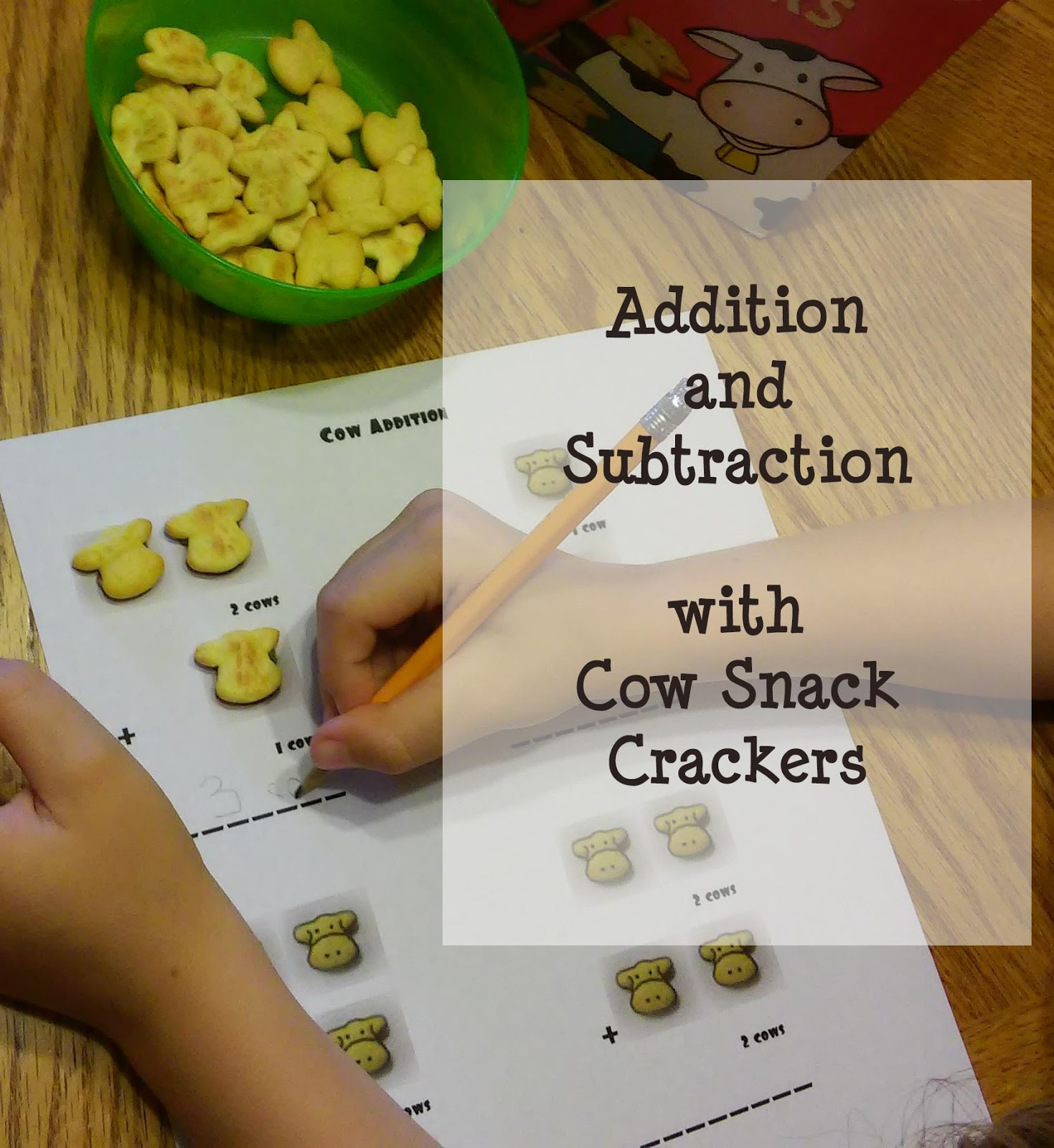 Math Worksheets With Horizon Snack Crackers