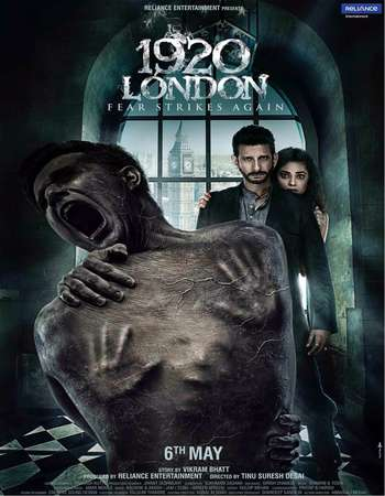 Poster Of 1920 London 2016 Hindi 700MB DVDScr x264 (Audio Cleaned) Watch Online Free Download Worldfree4u