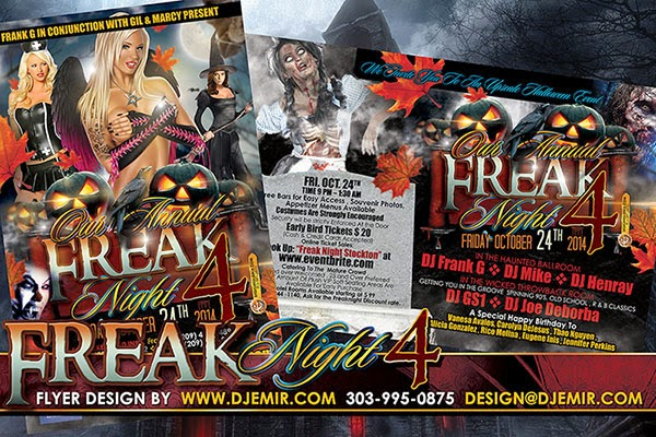 Freak Night 4 Halloween Flyer Design