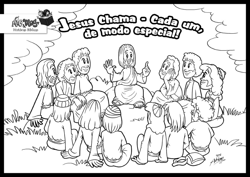 Jesus Chose Disciples Coloring Page Coloring Pages