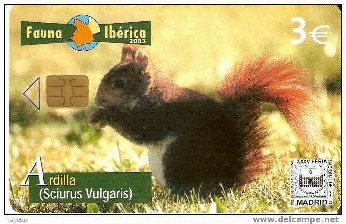 Tarjeta telefónica Ardilla vulgar (Sciurus vulgaris)