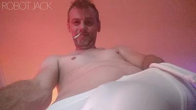 Robot Jack White Lycra Cock Bulge Ass RobotJack  Bisexual Gay Dick Amateur Big Man Men