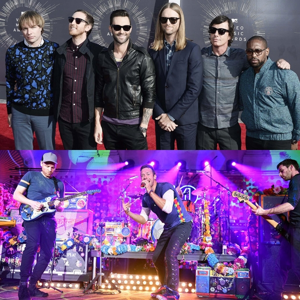 Maroon 5 responde a la confusión que les hicieron con Coldplay