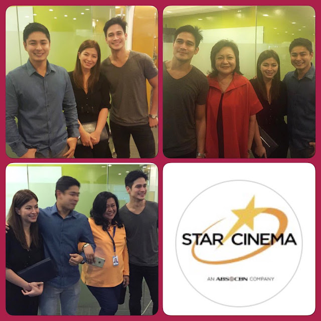 Spotted: Coco Martin, Angel Locsin, and Piolo Pascual at Star Cinema office