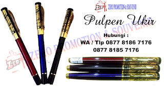 Souvenir pulpen batik, pen ukir promosi kantor