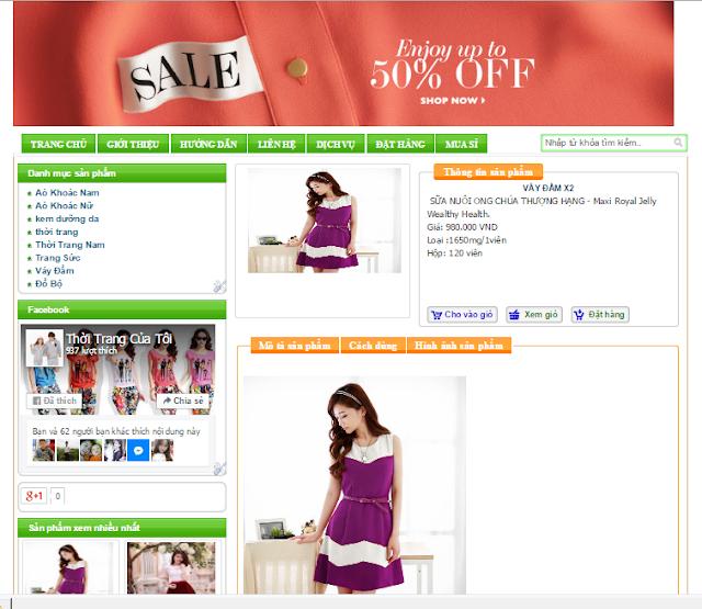 Template blogpsot bán hàng online miễn phí
