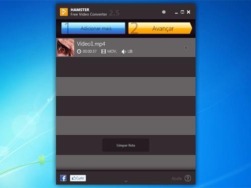 O Hamster Video Converter é muito fácil de usar