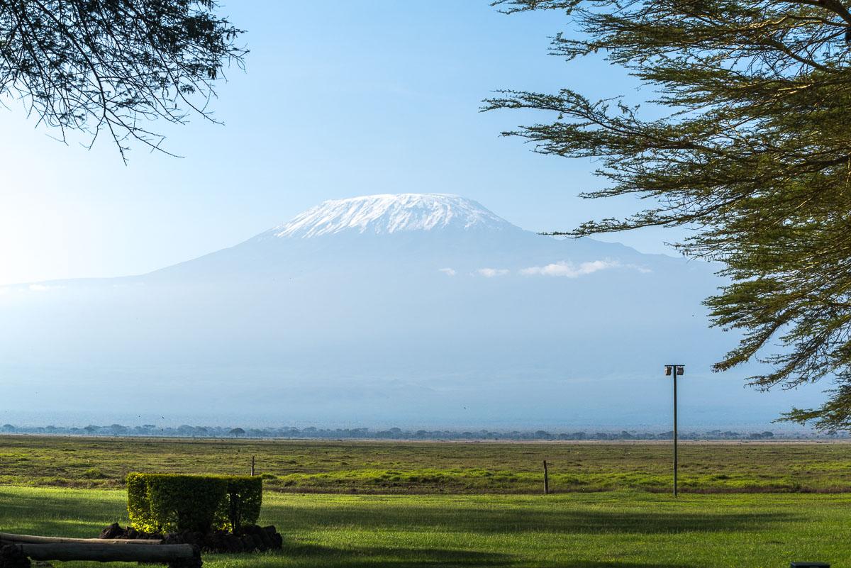 Kilimanjaro-Gipfel in der Ol Tukai Lodge