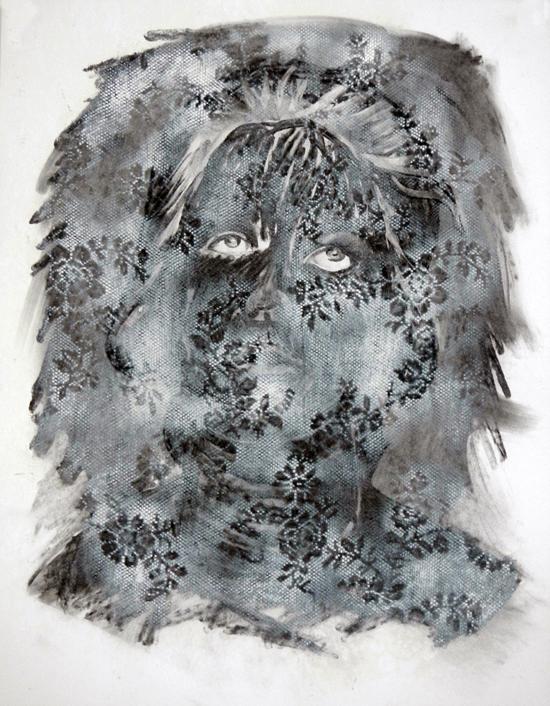 drawing Marjolijn van der Meij  behind#3, 2012