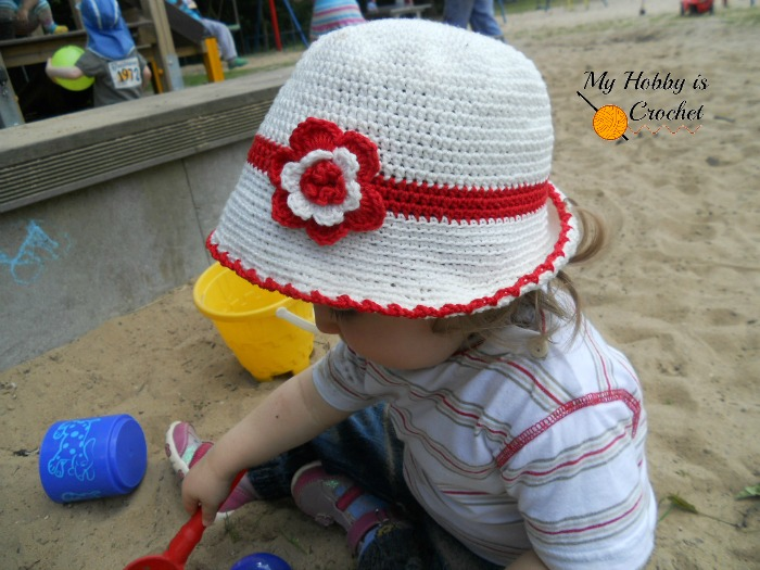 My Hobby Is Crochet Toddler Cotton Sun Hat Free Crochet Pattern