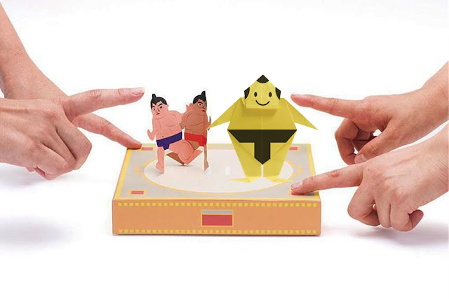 Cách gấp, xếp võ sĩ Sumo bằng giấy Origami - How to make a paper Sumo Wrestler