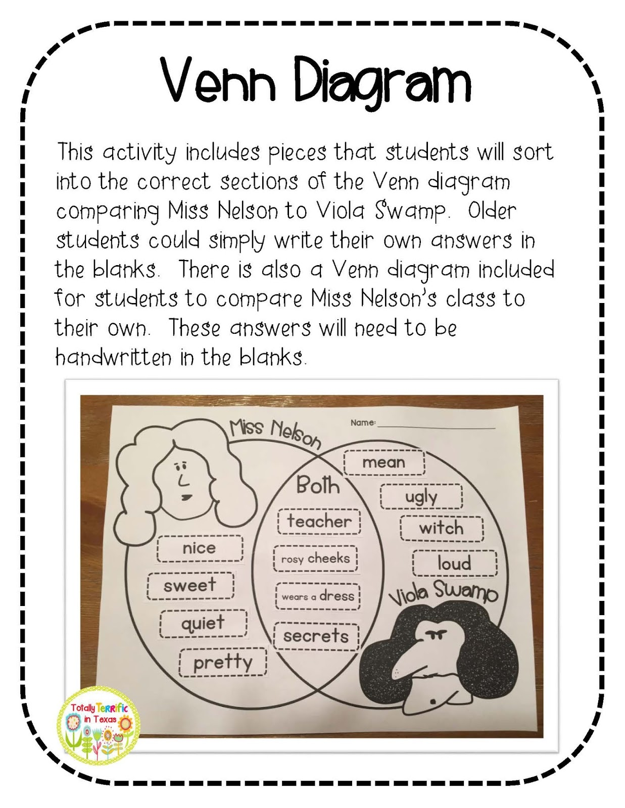 Using A Venn Diagram To Compare And Contrast Raccoon Skeleton Totally Terrific In Texas Tpt Seller Challenge Make Your
