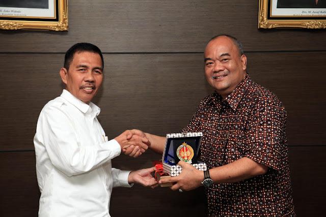Wagub Sumsel Menerima Kunjungan Wagub D.I Yogyakarta