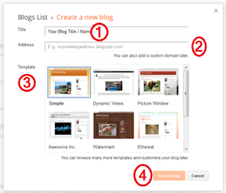 How to create free blog on Blogger with Blogspot subdoman Blog  Title URL Address Template, A brain charger