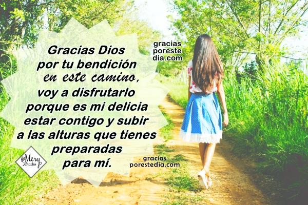 Corta oración para no rendirme, no me doy por vencido, Dios me ayuda en el camino, abre puertas, frases cristianas con oraciones en imágenes por Mery Bracho.