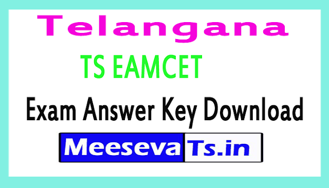 Telangana TS EAMCET Exam Answer Key Download 2018