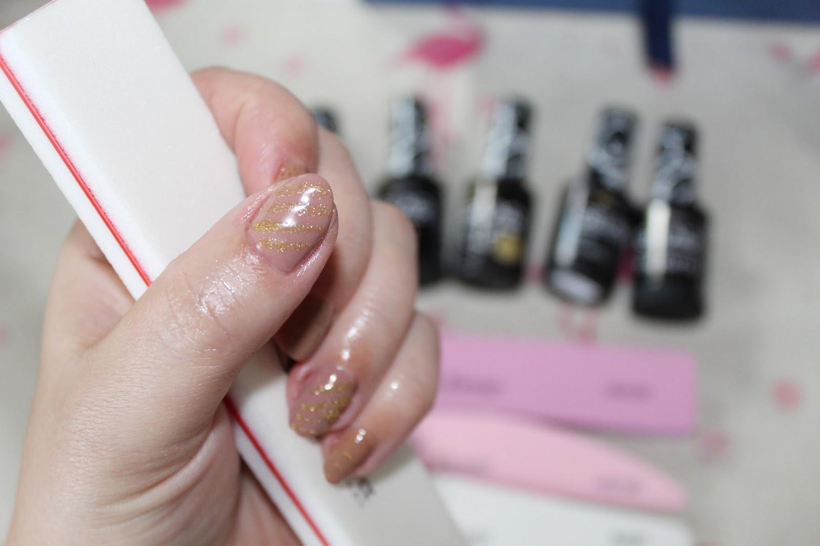 Manicure Hybrydowy z Gelaq / Pilniki Sun flower