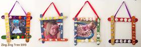 popsicle stick craft frames