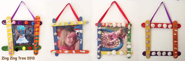 popsicle stick craft frames