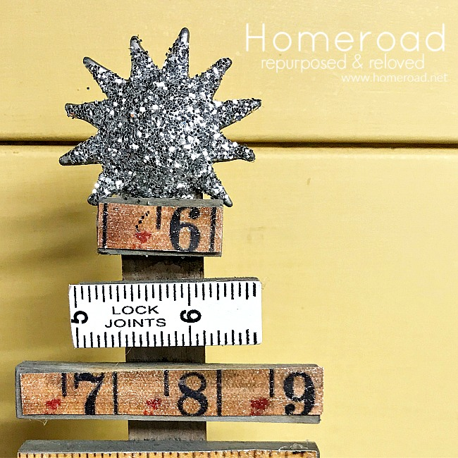Vintage Ruler Christmas Trees