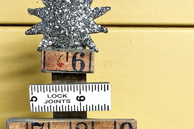 Vintage Ruler Christmas Trees