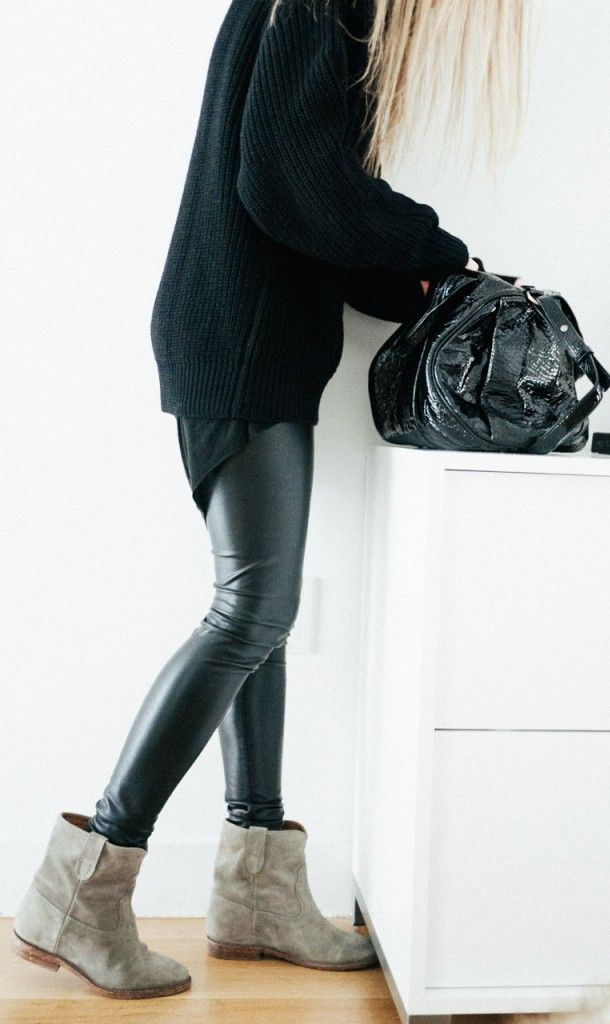 LEATHER LOOK LEGGINGS - BLACK RESTOCKED!