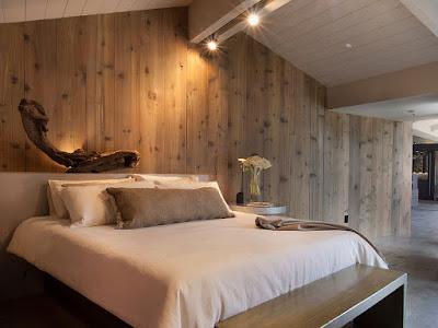 แบบห้องนอนตกแต่งผนังไม้