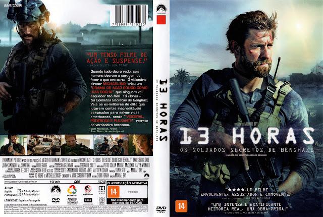 Capa DVD 13 HORAS OS SOLDADOS SECRETOS DE  BENGHAZI