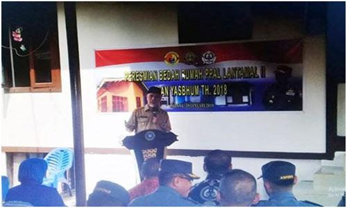 Lantamal II Padang ,Yayasan Sosial Bhumyamca Resmikn Bedah Rumah Tidak Layak Huni
