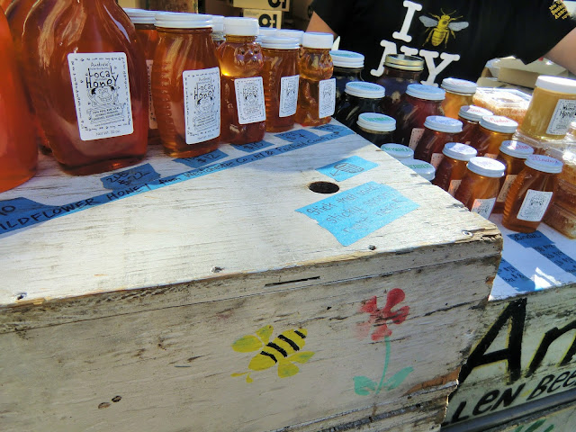 Green market - Union Square - New-York - local honey