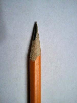 Witziger Bleistift will sich nicht anspitzen lassen - genervt