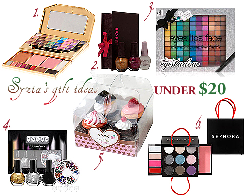My Christmas beauty gift ideas under $20 :)