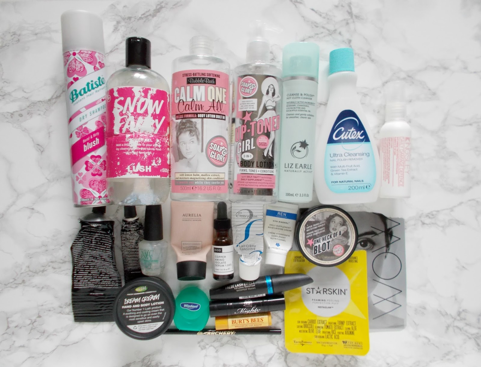 Product Empties haircare bodycare makeup skincare