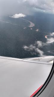 Peruvian Amazon rainforest viewed from avianca plane