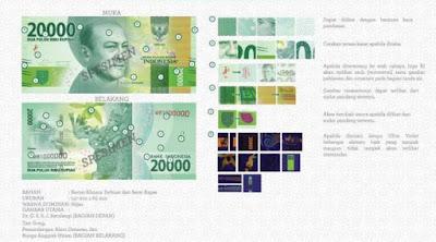 Uang rupiah baru pecahan Rp 20 ribu kertas