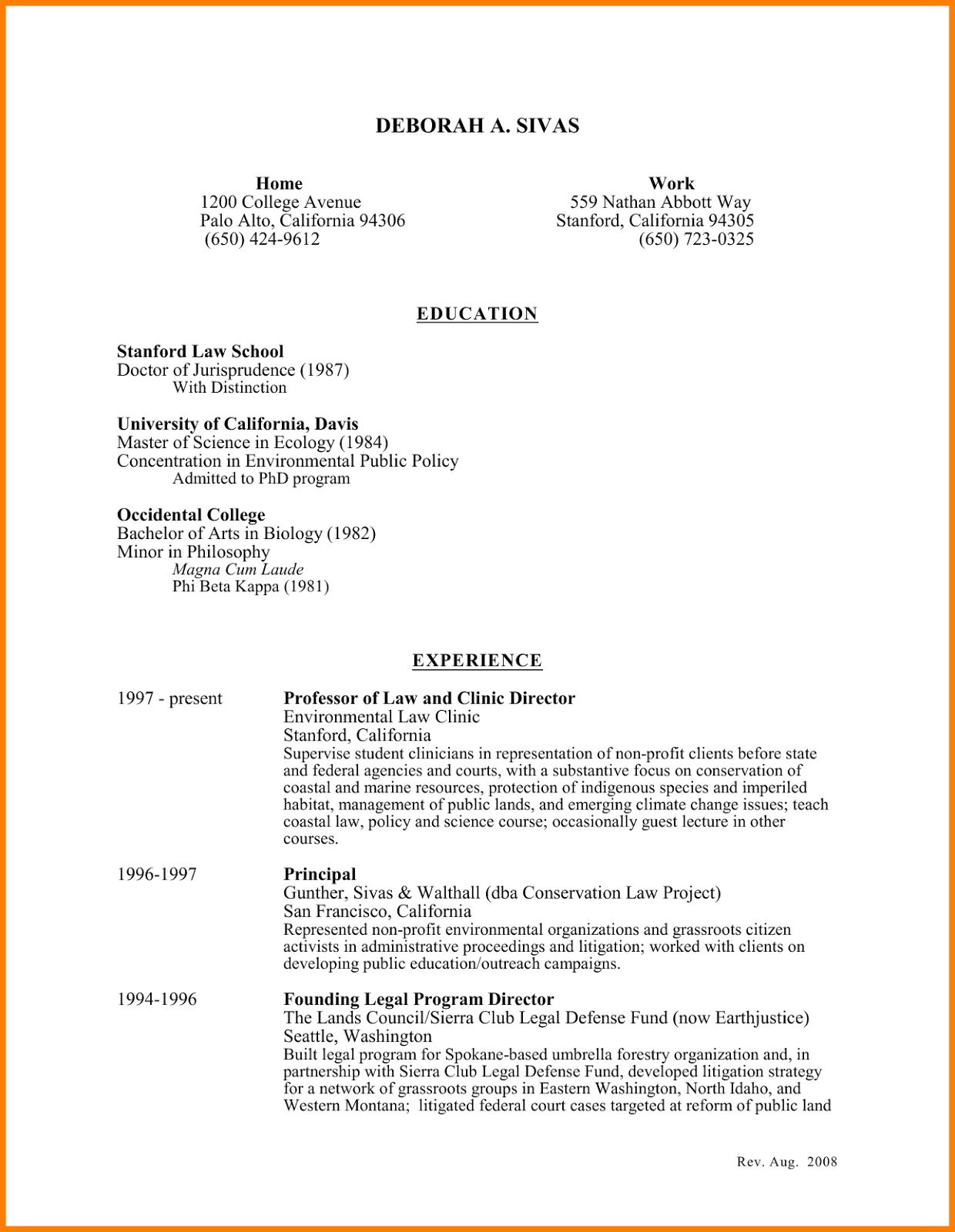 resume declaration statement cover letter