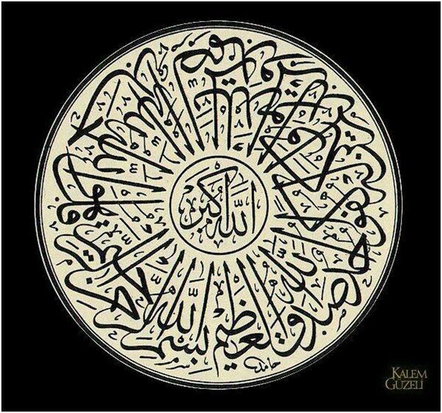 Kaligrafi Surah Al Ikhlas Seni Kaligrafi Islam