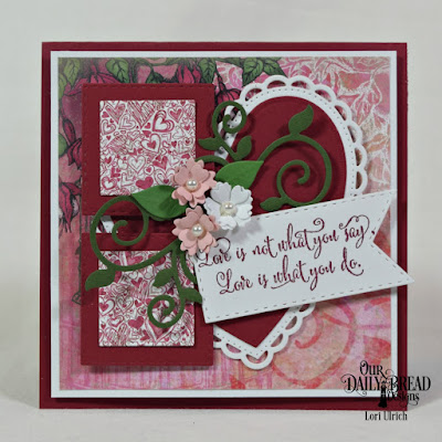 Our Daily Bread Designs Stamp Set: Hugs & Kisses, Paper Collection: Heart and Soul, Custom Dies:Ornate Hearts, Bitty Blossoms, Fancy Foliage, Double Stitched Pennant Flags, Double Stitched Squares, Ornate Hearts