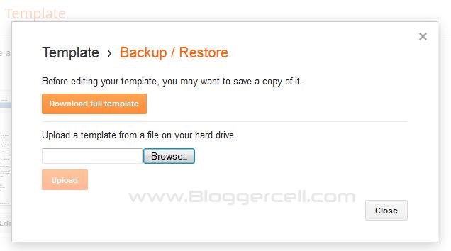 Backup Restore Template