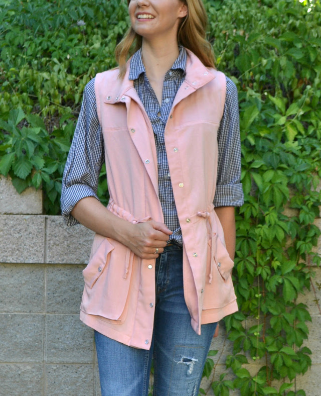 Me Made: Pink Tencel Kelly Anorak Vest