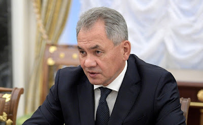 Defense Minister Sergei Shoigu at a meeting with permanent members of the Security Council