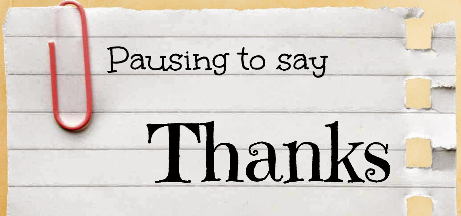 pausing to say thanks