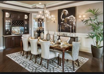 Desain Interior Ruang Makan  Mewah Minimalis 1