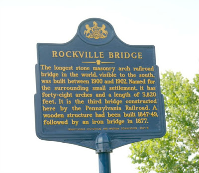 Historical Marker for the Rockville Bridge in Harrisburg Pennsylvania