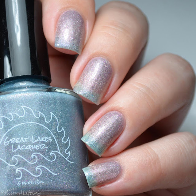 gray to blue thermal nail polish