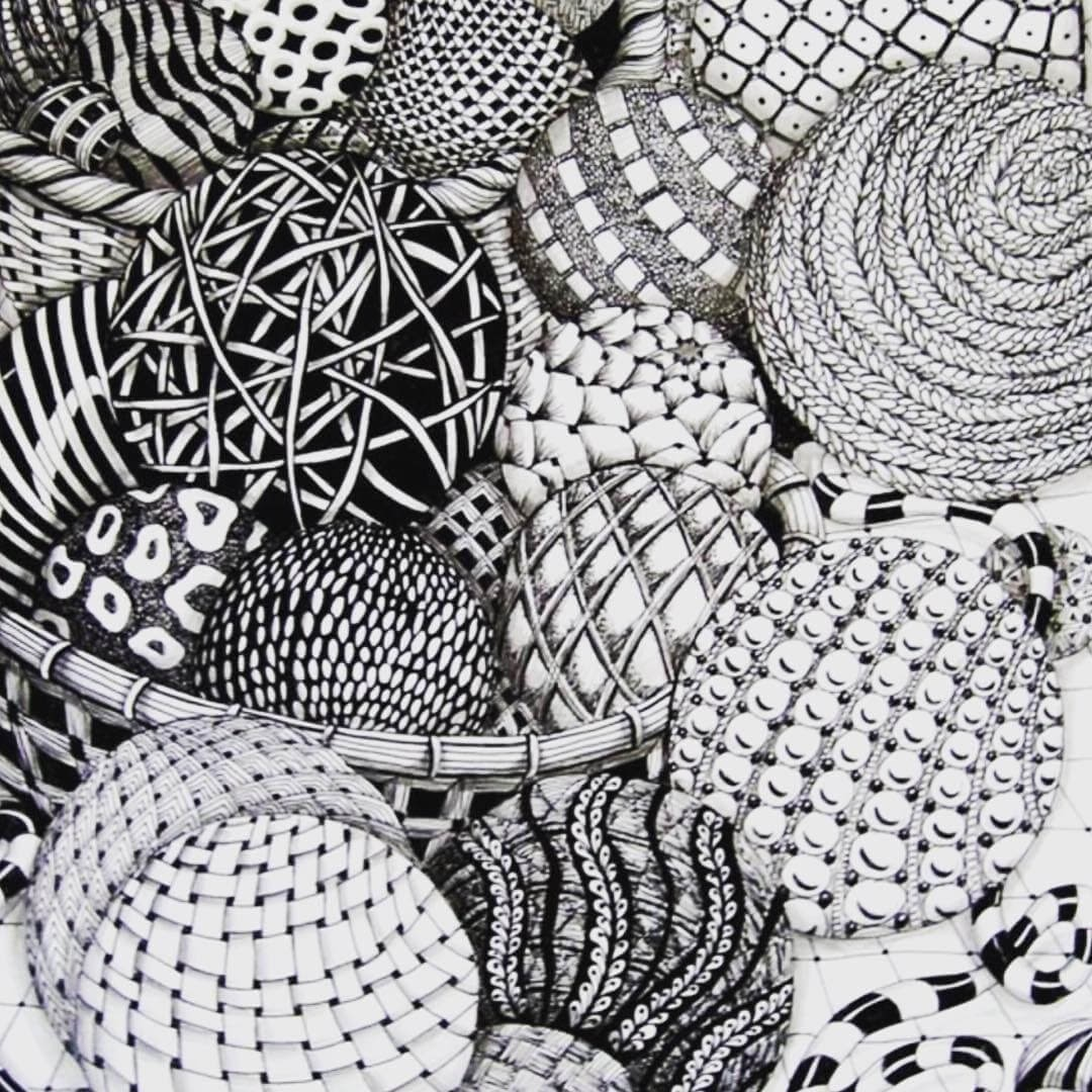 12-Balls-with-different-Patterns-hello_zenart-Different-Styles-and-uses-for-the-Zentangle-Pattern-www-designstack-co